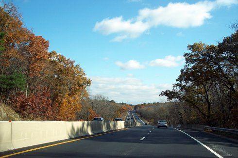 美国高速公路风景