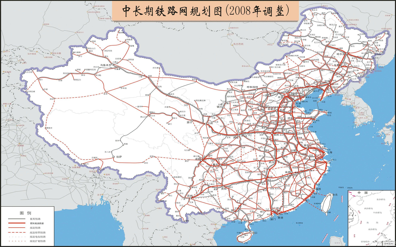 江西省铁路规划调整_中长期铁路网规划图(2008年调整) - 高速地图 - 高速网