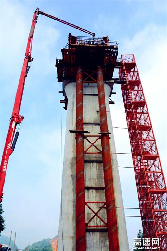 灵江特大桥首个悬挂梁零号块成功浇筑