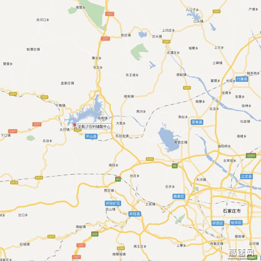 行唐县城街道地图