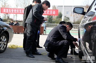 陕西交通集团商界分公司商洛东管理所开展驾驶员技能大比武活动