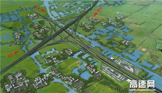 中交一公局杭州绕城高速西复线湖州段工程正式开建