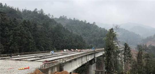 G322国道(江西)宜乐项目宜黄段首座高架桥全线贯通