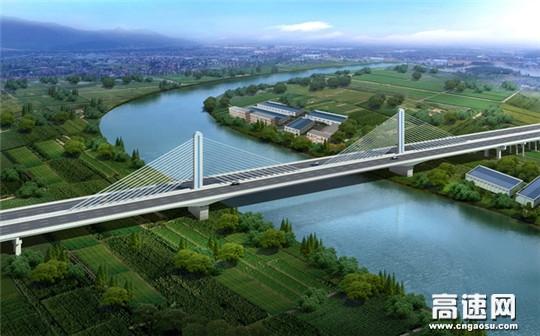 中交一公局杭州绕城高速西复线湖州工程京杭运河桥正式进入主桥施工