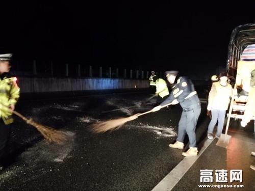 广西柳州高速公路管理处河池高速公路警路企联合党支部抗冰保畅取得初步胜利