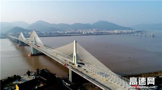 中交一公局104国道瓯江特大桥全线贯通