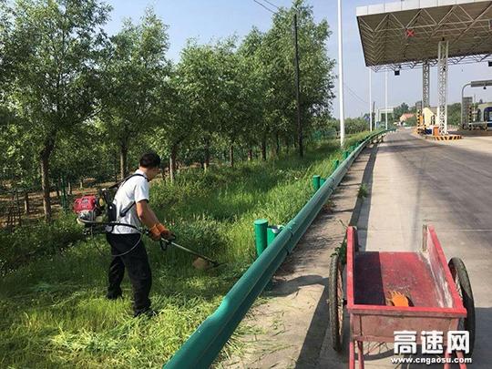 甘肃:西峰所凤口匝道收费站积极整治路域环境
