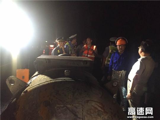 江西高速南昌东管理中心成功处置一起危化品爆燃事故