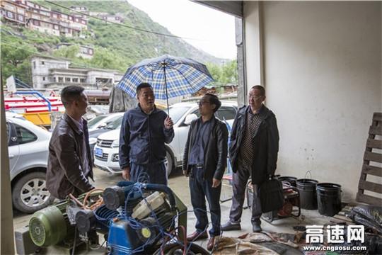 四川甘孜州公路管理局主要领导深入德格分局检查、指导汛期抗洪抢险工作