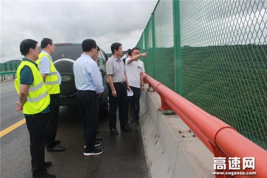 陕西高速集团叶普万副总经理检查西延分公司防汛保畅工作
