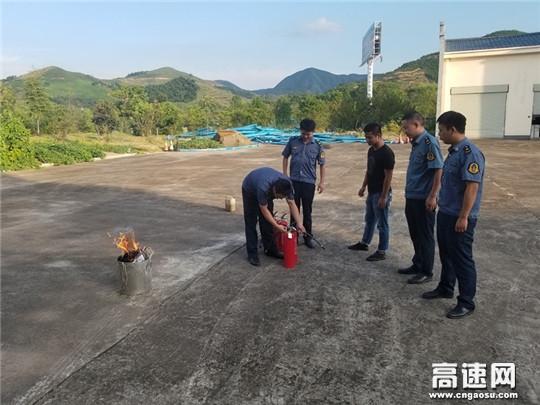 湖北杭瑞高速路政三大队开展消防演练 提升安全意识