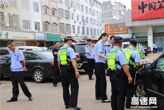 广西高支直属十三大队开展交通违法现场查处实战演练提高民警业务素质
