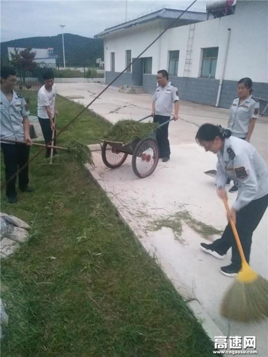 甘肃:庆城所太白主线收费站路域环境整治行动成效显著