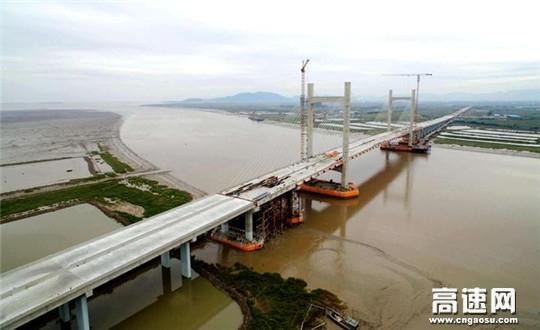 中交一公局集团甬台温复线鳌江特大桥全线贯通