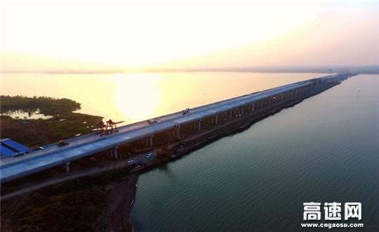 中交一公局集团女山湖大桥主桥全线贯通