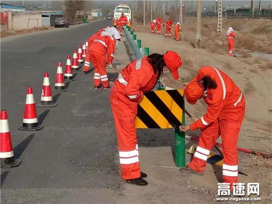 甘肃:武威公路管理局民勤段全面开展拉网式隐患排查治理工作