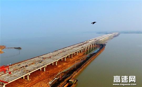中交一公局集团女山湖大桥全线贯通