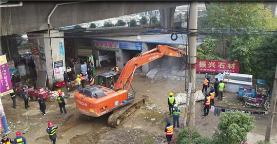 再拆5.4万方 鄂东桥下空间隐患治理持续发力