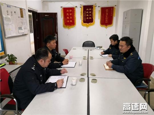 广西高支直属十三大队与横县路政大队共商梅雨天气道路交通安全管理事宜