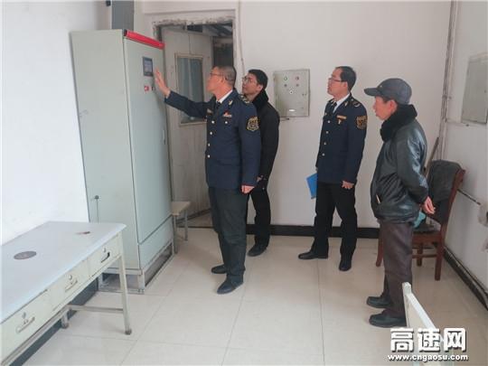 """甘肃宝天高速公路隧道管理所领导""""春节""""赴一线检查工作"""