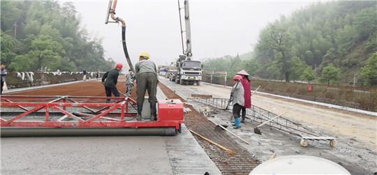江西安福县旅游快速通道PPP项目月家大桥进入桥面施工阶段