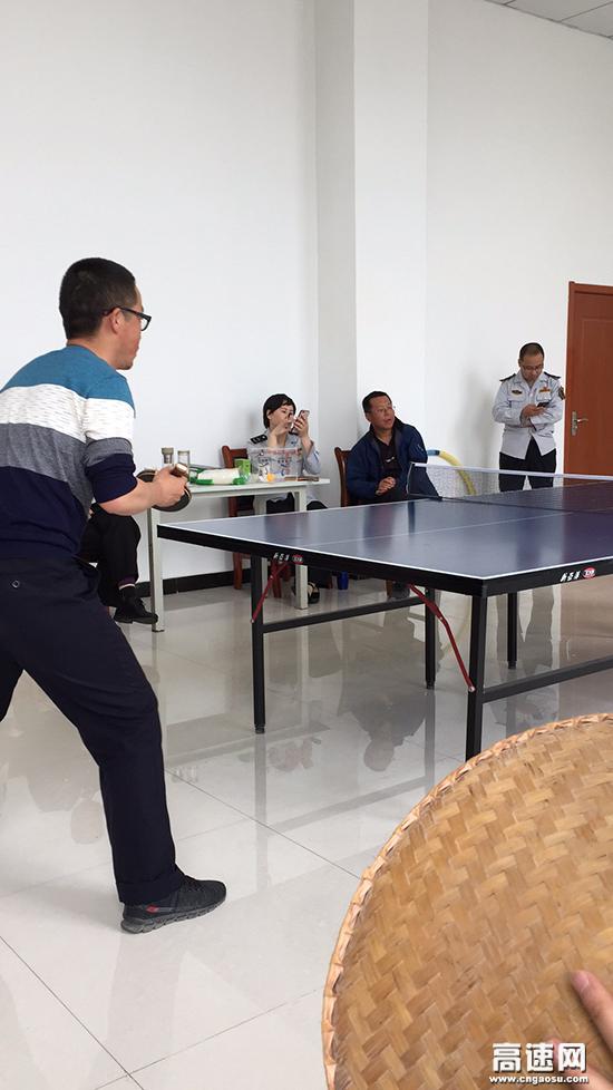 甘肃:宝天高速公路收费所举办 职工乒乓球比赛活动