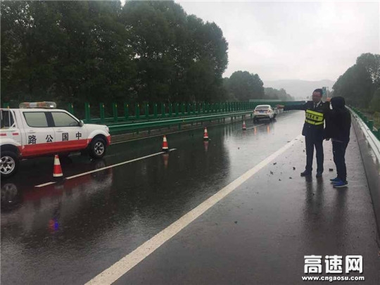 甘�C渭源所全力做好暴雨天�飧咚俟�路安全保障工作