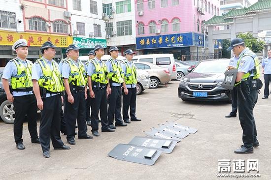 广西高支直属十三大队组织开展警务实战训练
