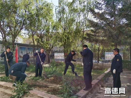 甘肃古浪路政执法所党支部开展5月份主题党日活动