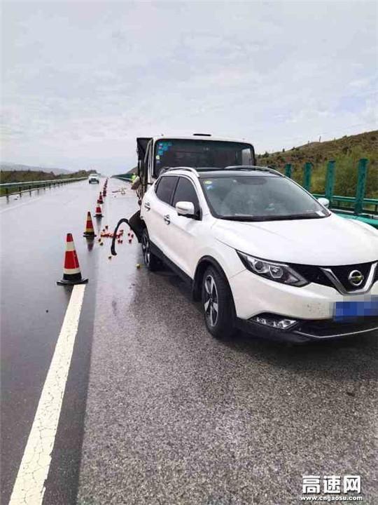 甘肃武威清障救援大队快速处置高速公路追尾事故