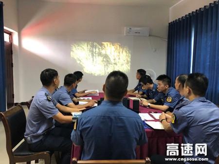 """广西玉林高速公路管理处博白大队组织观看安全月警示教育视频践行""""安全生产月"""""""