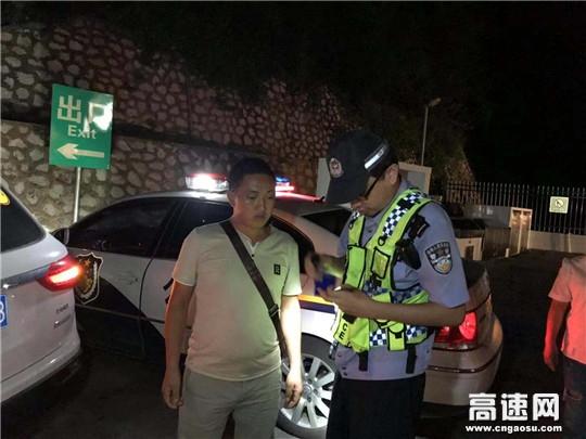 广西高速交警支队十三大队全力开展夜查做好夏季交通安保工作