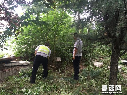 甘肃宝天所东岔主线站持续开展路域 环境整治工作