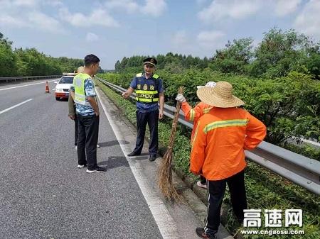 广西玉林高速公路管理处贵港二大队认真履责,加强施工作业现场安全检查