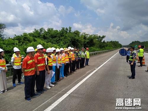 广西玉林高管处多部门联合开展恶劣天气应急演练