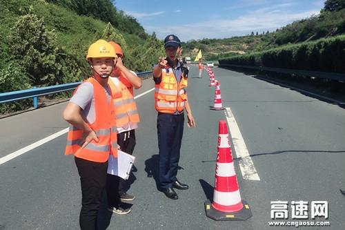湖北高速路政汉十支队第四大队开展高速公路涉路施工标准化管控工作