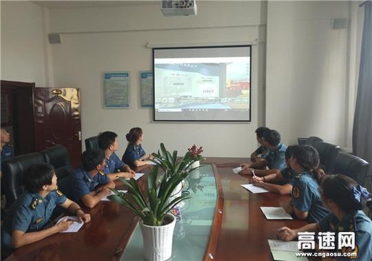 内蒙古公路霍尔奇收费所组织观看3D廉政教育展厅筑牢拒腐防变的思想防线