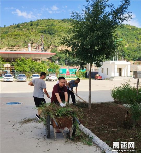 甘肃庆城所老城收费站持续推进路域环境治理工作