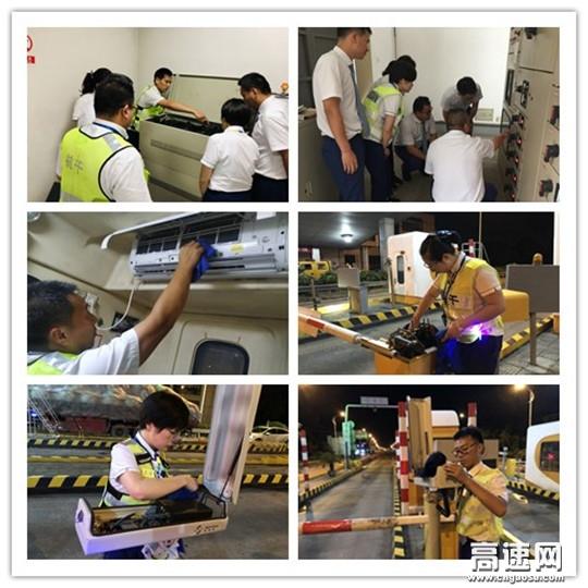 浙江杭千高速公司灵桥站强化做好夏季设施设备维护工作