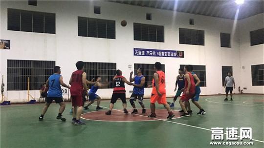 广西玉林高管处博白大队党支部组织博白大队与玉林大队在博白管理区开展篮球友谊赛