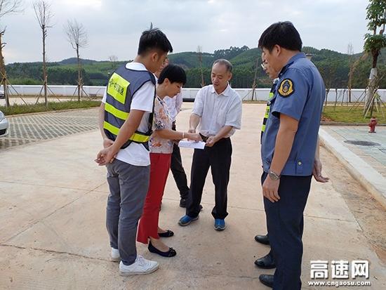 广西壮族自治区高速公路管理局周北局长一行到武鸣路政执法二大队开展调研工作