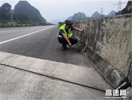 广西南宁高速公路管理处上林路政执法大队积极开展路产修复复查工作