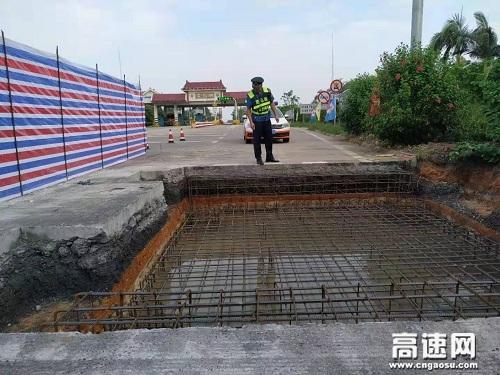 广西玉林高速公路管理处合浦路政执法大队推进辖区高速公路入口称重项目建设