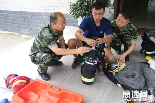 陕西高速集团西略分公司略阳应急救援中队积极开展业务训练