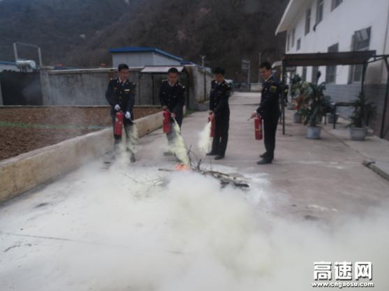 甘肃:宝天高速麦积山隧道监控站组织职工开展消防演练
