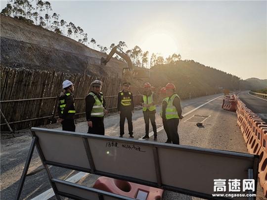广西玉林高速公路管理处博白大队联合多部门开展大检查大整治专项行动,强化安全意识