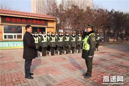 河北省交通厅厅长单宝风到石家庄站进行春节慰问