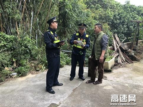 广西壮族自治区高速公路发展中心玉林分中心浦北大队积极开展法治宣传活动