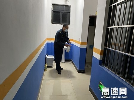 广西自治区高速公路发展中心玉林分中心藤县大队全力做好防疫消毒工作