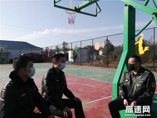 """湖北高速路政汉十支队谷竹第二大队奋战疫情 不忘身心""""减压"""""""